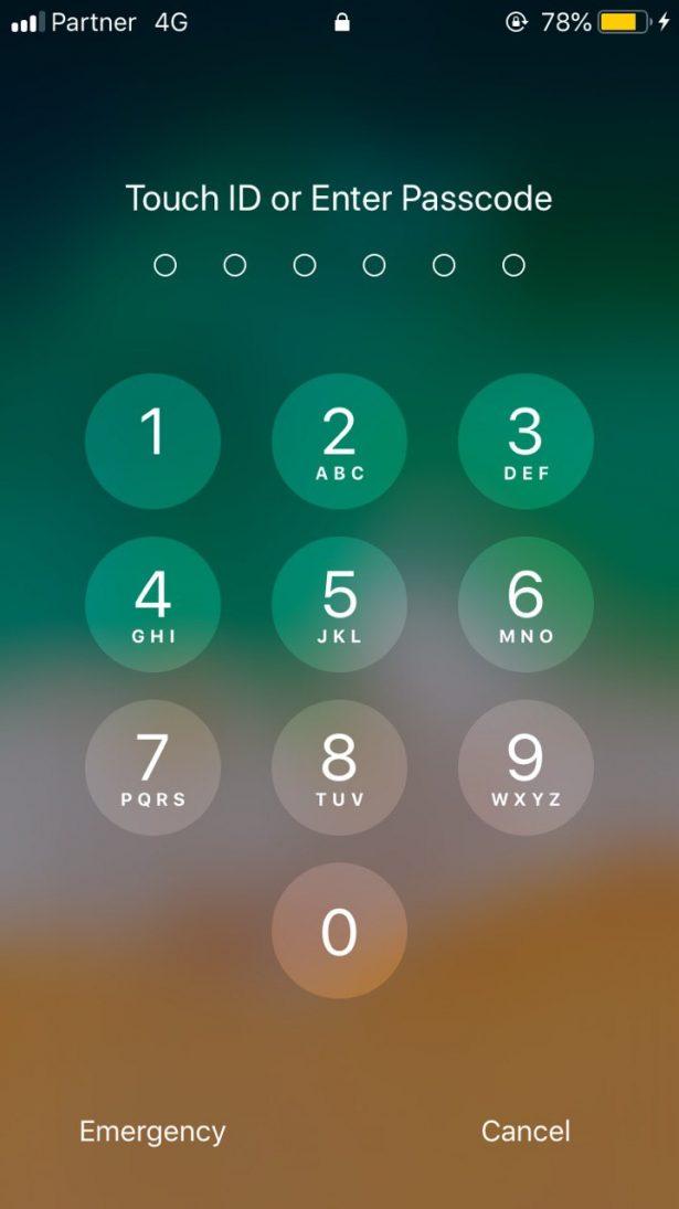 הגדרת סיסמא ראשונית באייפון