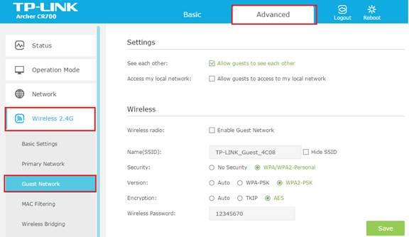 רשת WiFi נפרדת לגלישת אורחים (Guest Network)